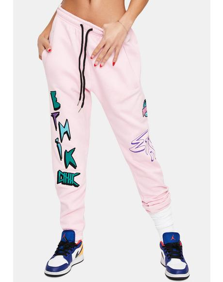 Pink Modern Life Sweatpants