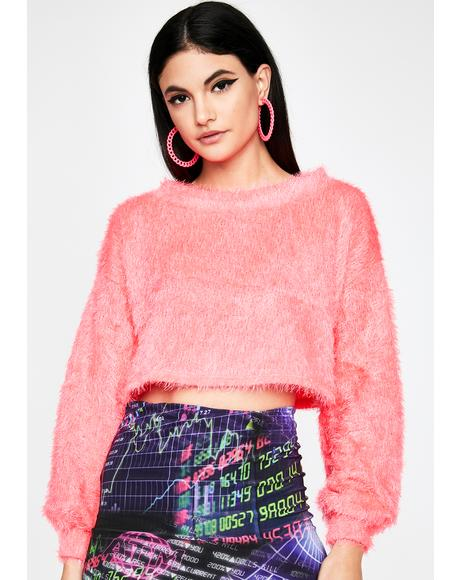 Candy On Your Mind Crop Sweater