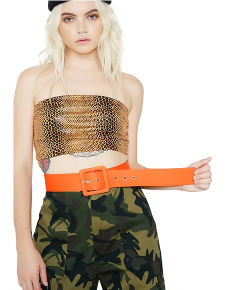 Stand Out Square Buckle Belt
