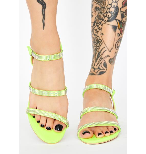 Volt Hey Girlfriend Rhinestone Sandals