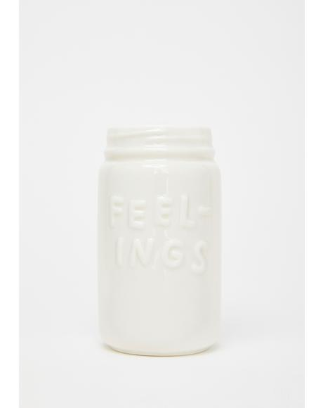 Too Many Feelings Ceramic Jar