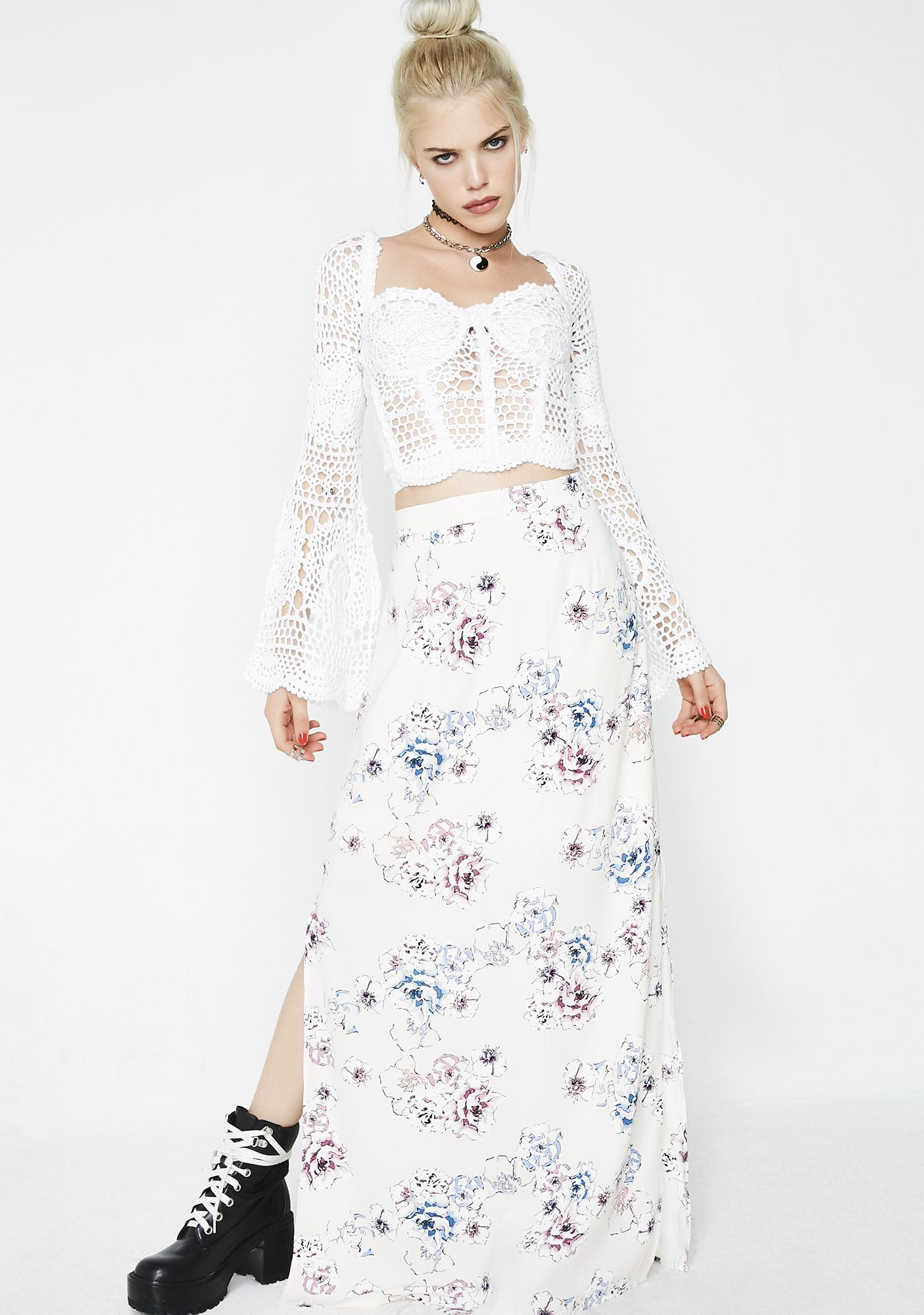 Lady Bloom Maxi Skirt