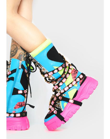 Candy High Hopes Platform Boots
