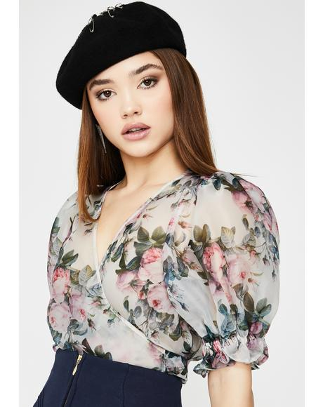 Garden Rose Cloud 9 Sheer Blouse