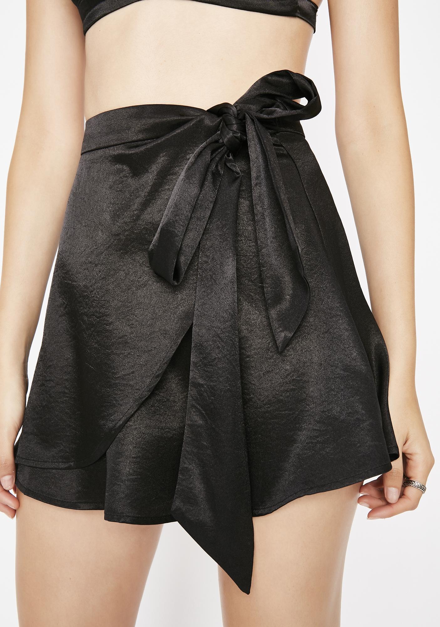 Bad Thang Satin Skirt