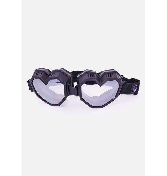 ESQAPE Black Monochrome Heart Goggles