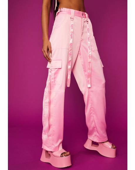 Passion For Satin Cargo Pants