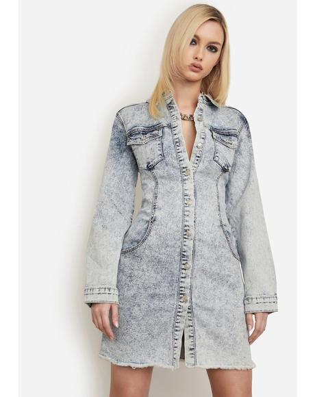 Don't Look Back Denim Mini Dress