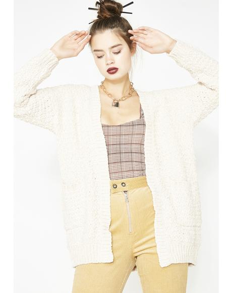 Cream Kiss The Sky Knit Cardigan