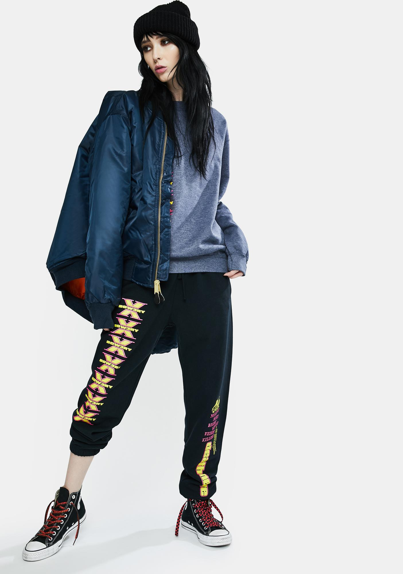 BOW3RY Death Nerves Graphic Sweatpants
