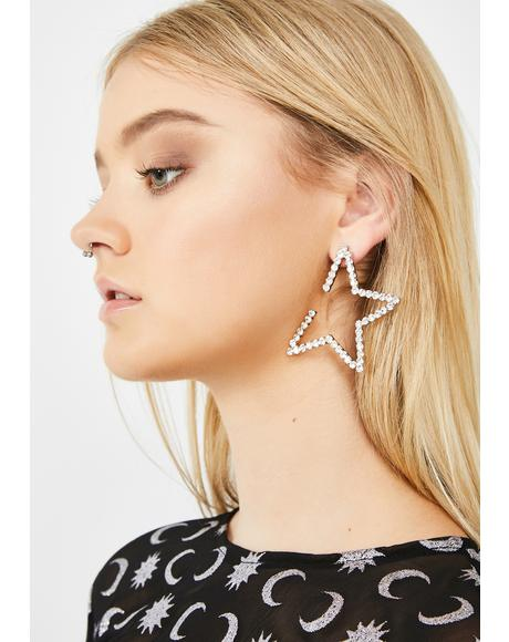 Star Of The Show Rhinestone Earrings