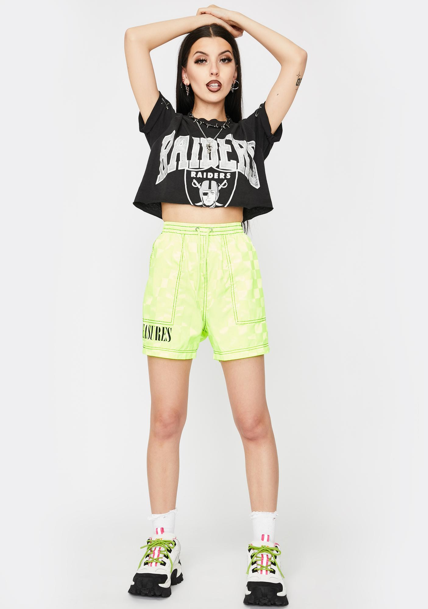 Pleasures Yellow BPM Lounge Shorts