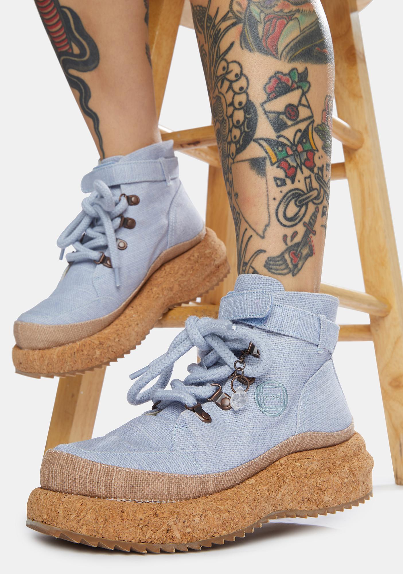 [esq] Blue Gaia Platform Hiker Boots