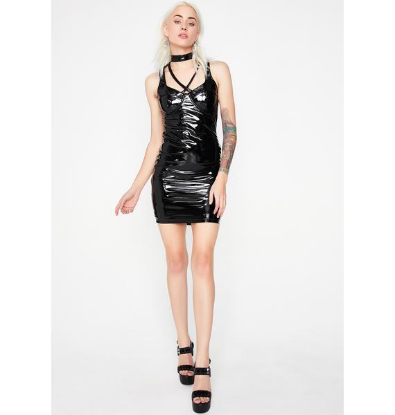 Never Submissive Vinyl Dress