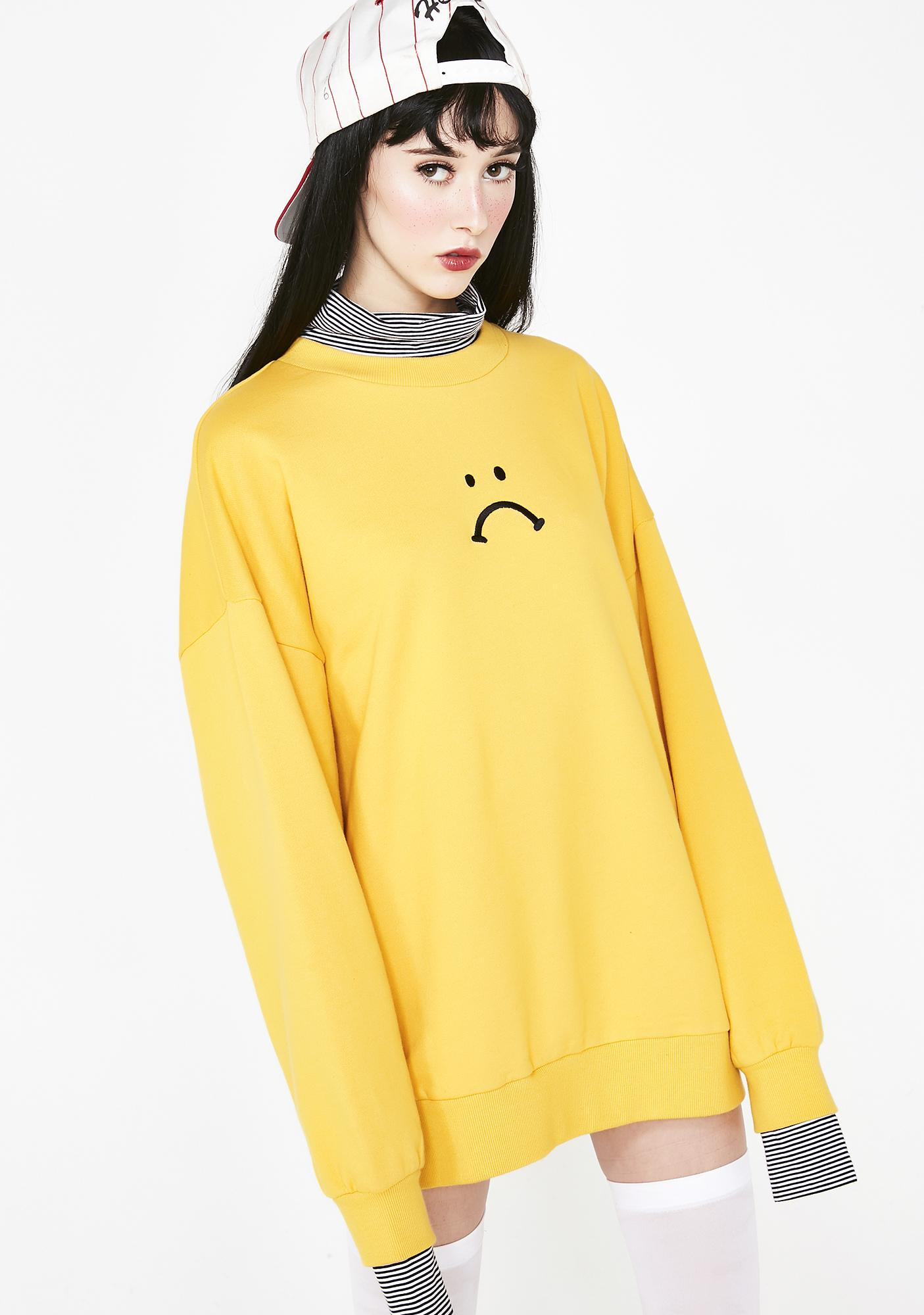 42c088c1 Lazy Oaf Unhappy Layer Sweatshirt | Dolls Kill