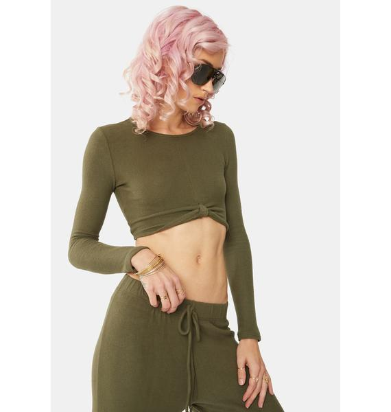 Bailey Rose Olive Crop Top