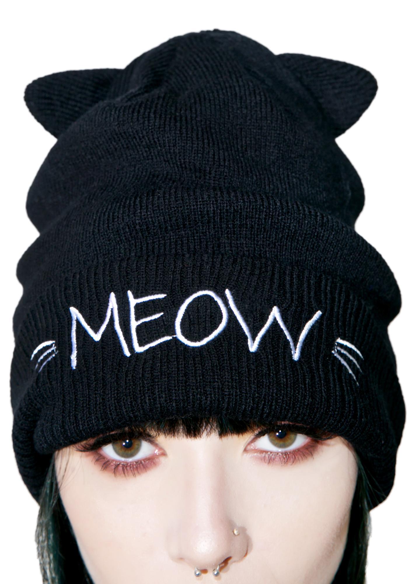 Meow Kitty Beanie