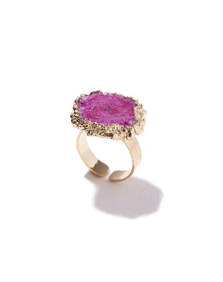 Fuchsia Stone Cold Crystal Ring