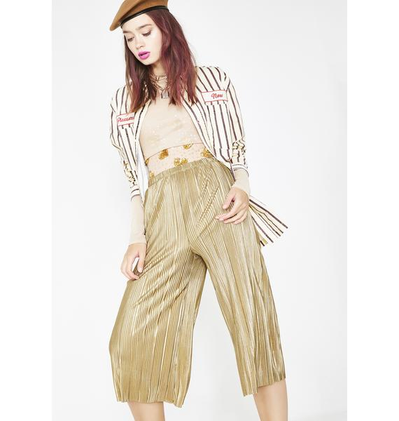 Lap Of Luxxury Pleated Pants