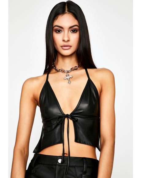 Pain Proof Halter Crop Top