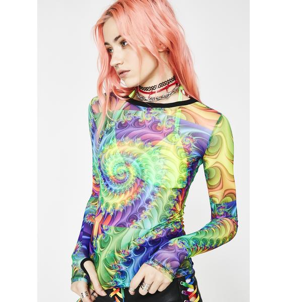 Current Mood Keep Trippin Psychedelic Top