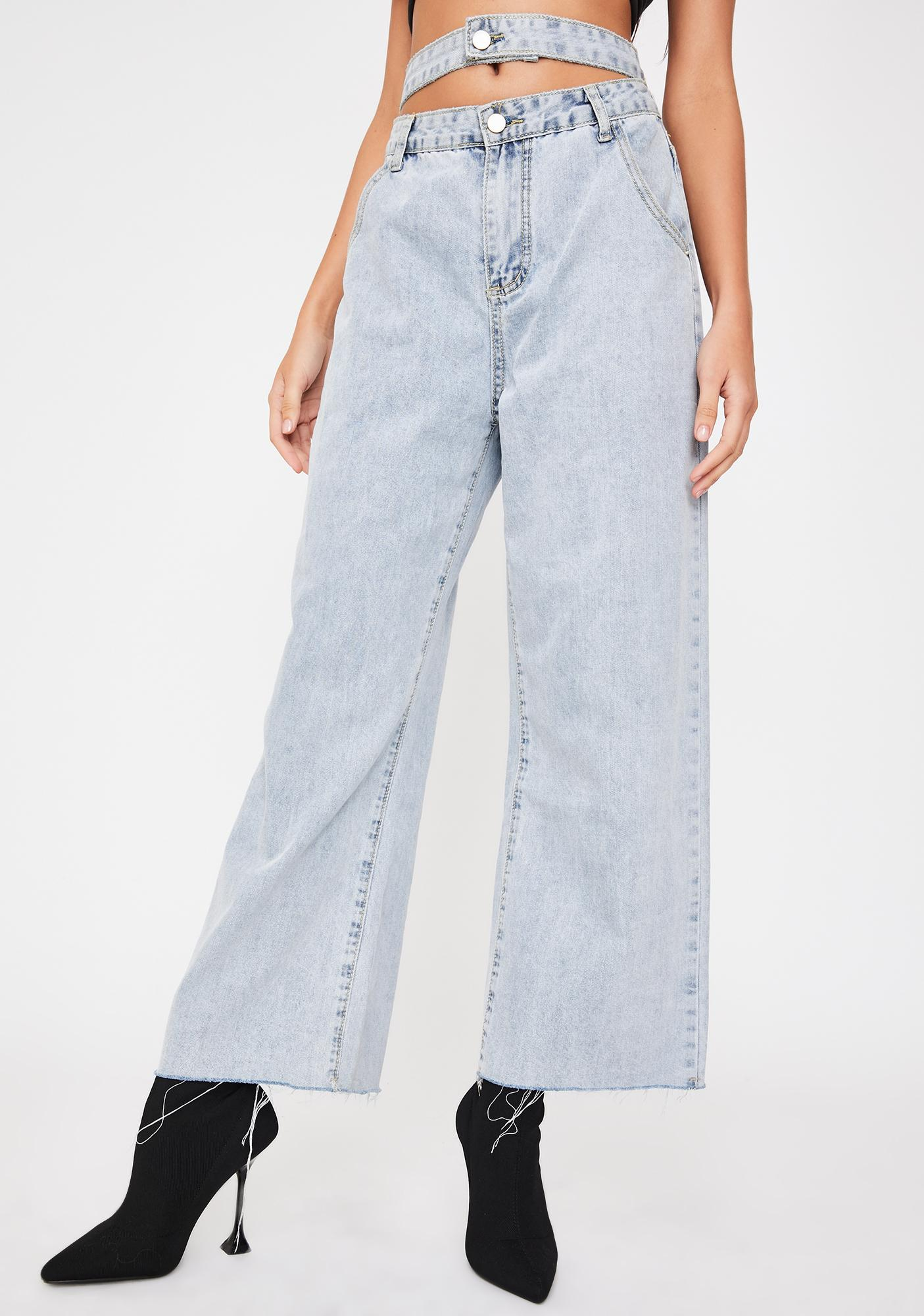 THE KRIPT Juna Wide Leg Jeans