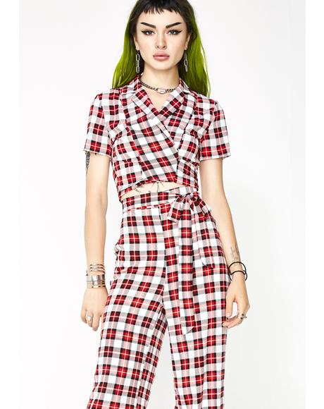 Preppy Girl Plaid Set