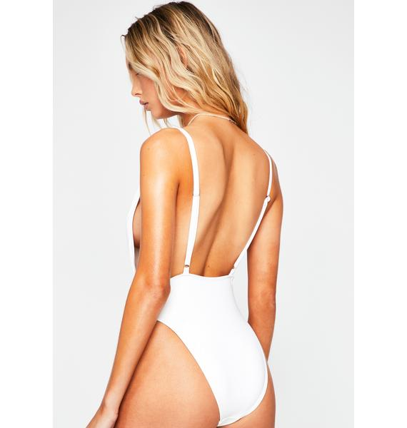 Dippin' Daisy's  White Euphoria One Piece Swimsuit