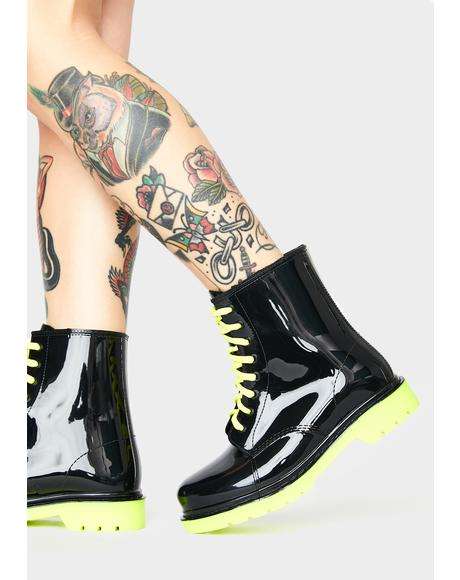 Drip Drip Combat Boots
