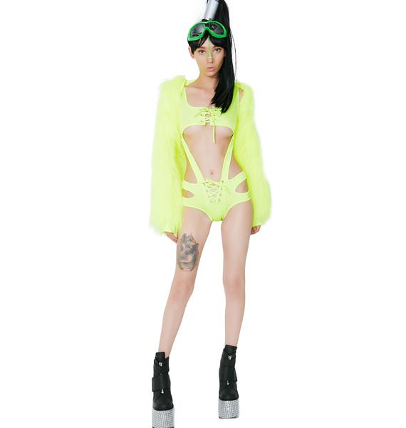 Lemon Suckerpunch Cut-Out Bodysuit