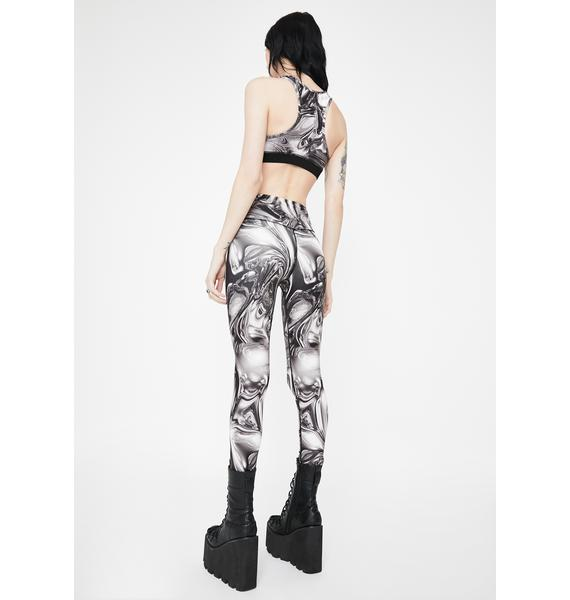 Jaded London Chrome Print High Waist Leggings