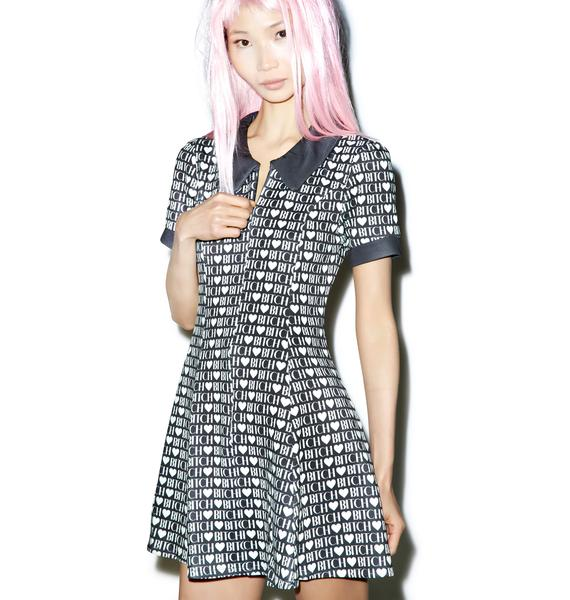 Wildfox Couture Bitch Heart Go-Go Party Dress