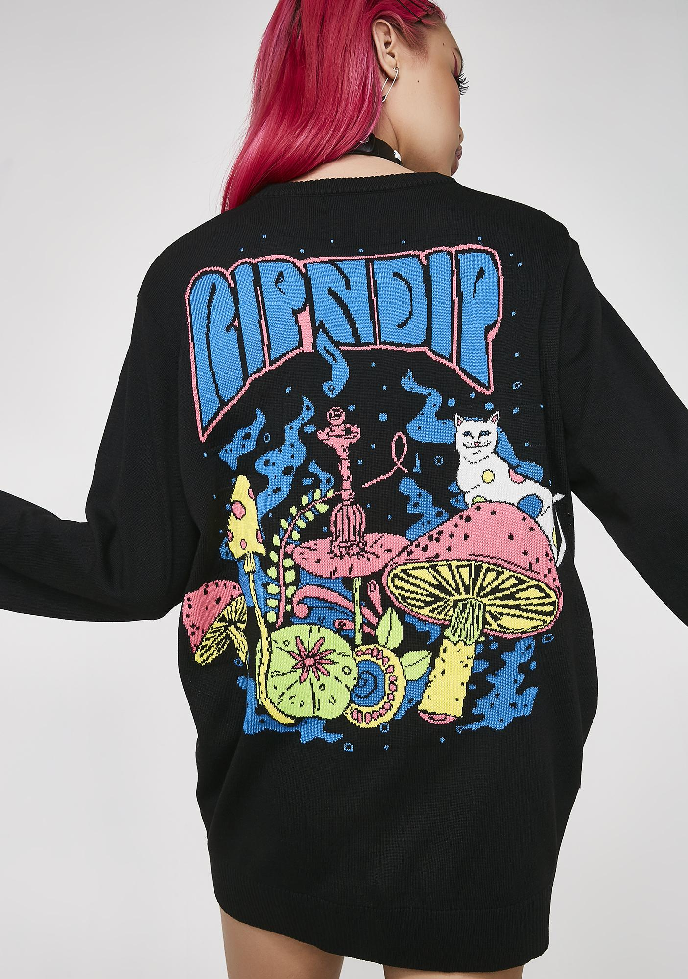 RIPNDIP Psychedelic Knit Sweater