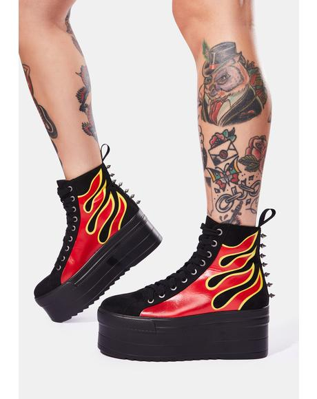 Universe On Fire Platform Boots