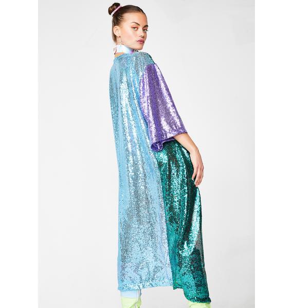 Sparkle Royalty Sequin Kimono