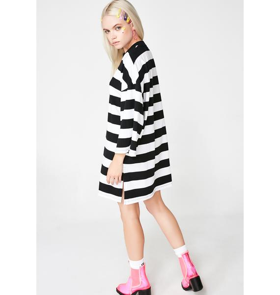 Lazy Oaf Lazy Heart Stripey Tee Dress