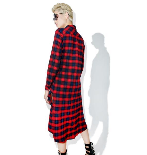 Glamorous Ralph Plaid Shirt Dress