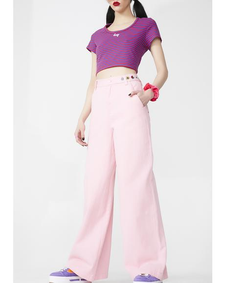 Flower Power Wide Leg Trousers