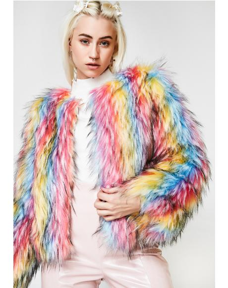 Ova The Rainbow Fur Jacket