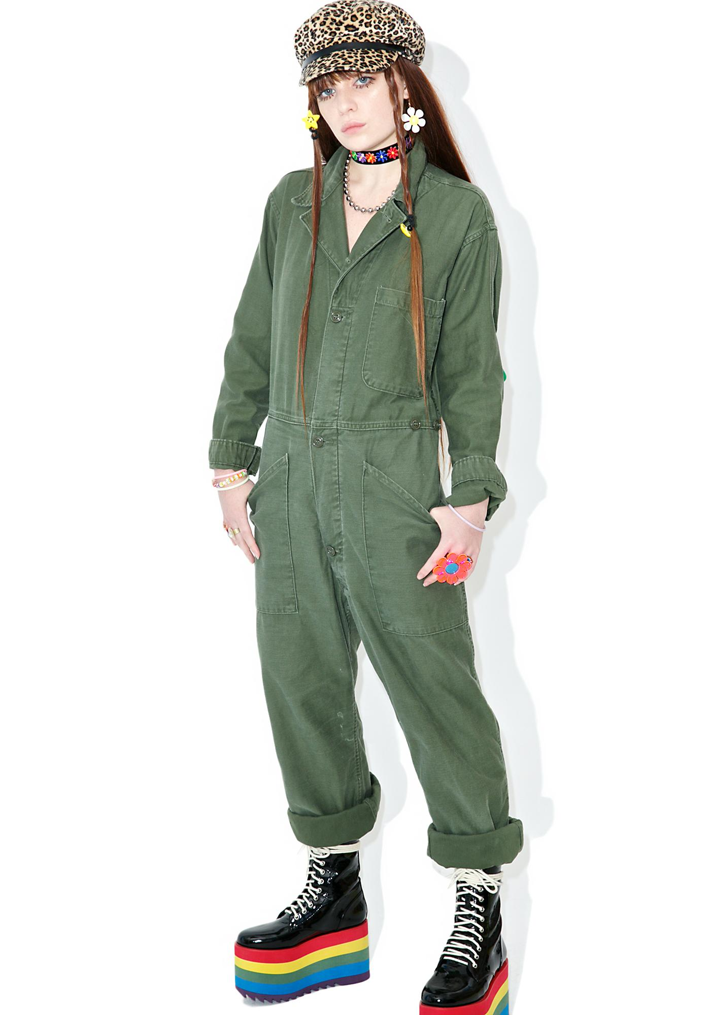Vintage Army Surplus Flightsuit