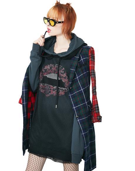 Fit Net Pullover Hoodie