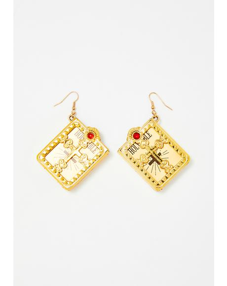 Gates Of Heaven Bible Earrings