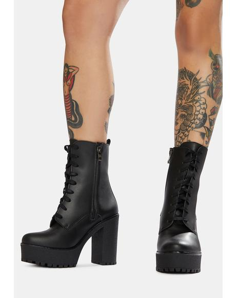 Ivy Heeled Vegan Leather Boots