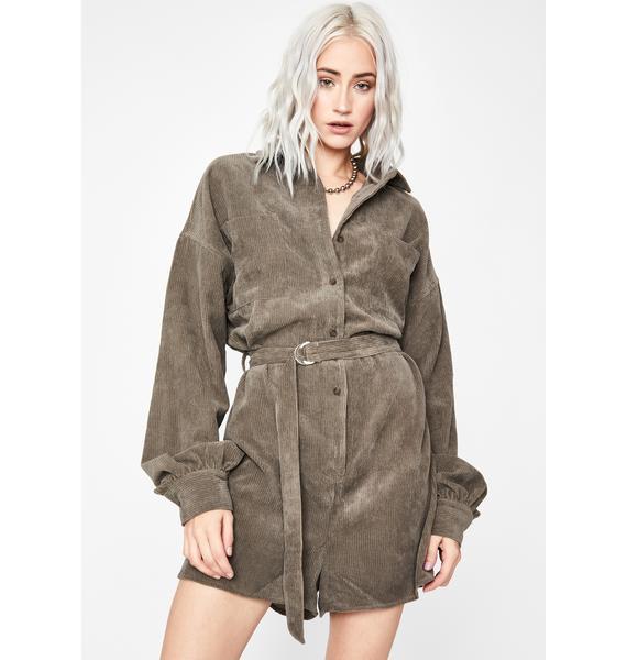 War Zoned Belted Shirt Dress