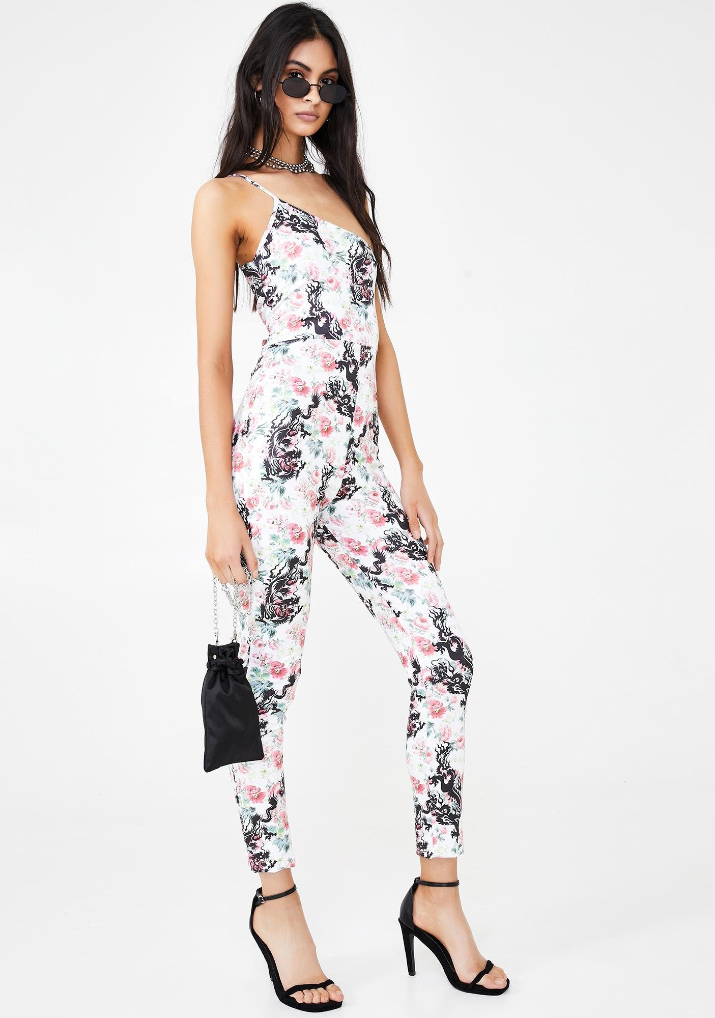 NEW GIRL ORDER Floral Cami Unitard