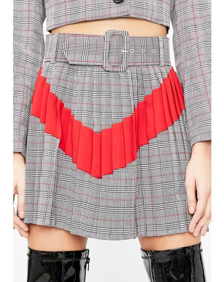 Bad Aptitude Plaid Skirt