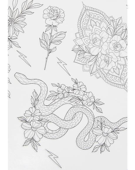 x Sophie Rimmer Flowers Tattoos