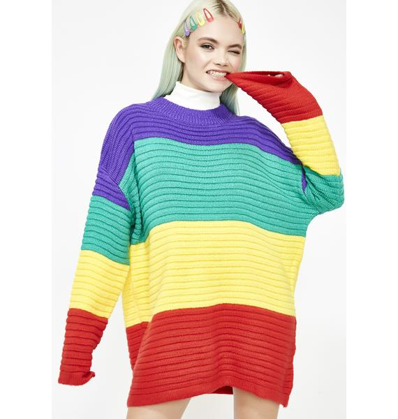 Open Ya Eyes Oversize Sweater