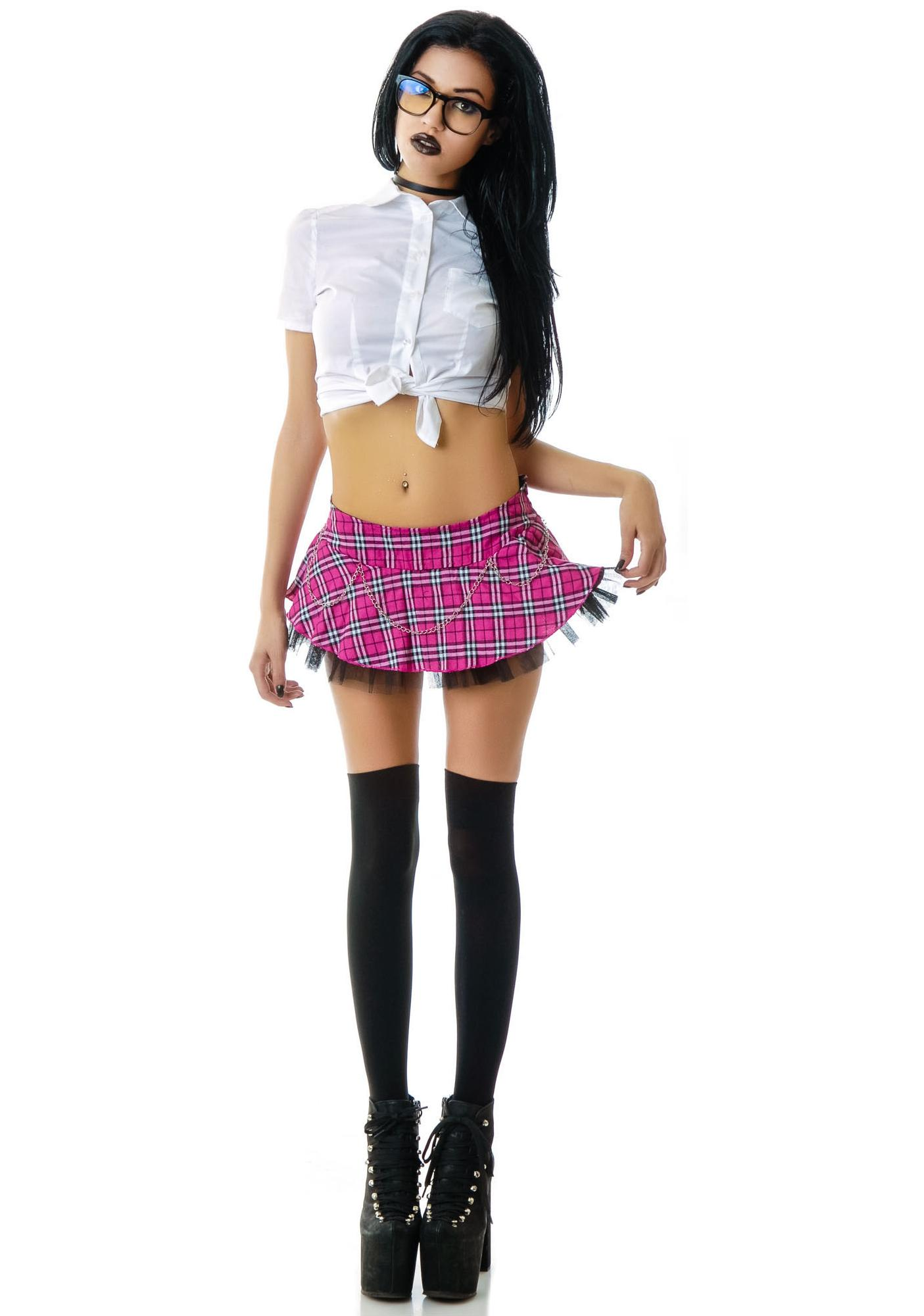 Lip Service School Girl Plaid Skirt