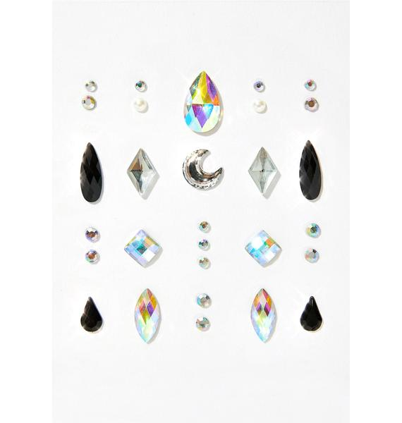 Lunautics Cosmic Rain Face Gems